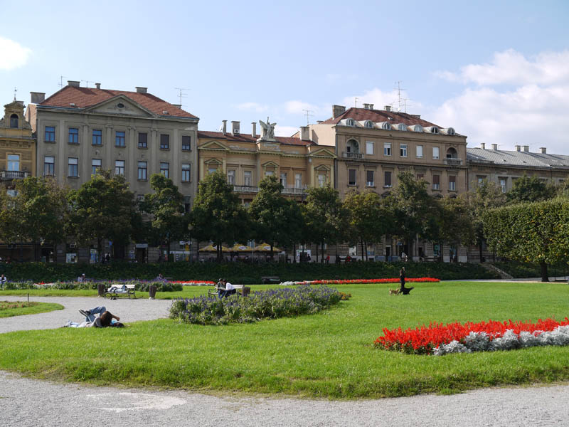 Sunny afternoon in Zagreb.