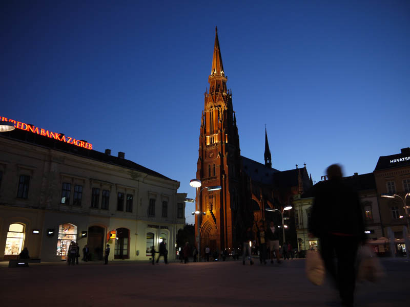 Osijek at dusk.