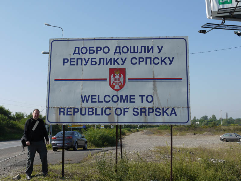 Crossing the border into Republika Srpska.