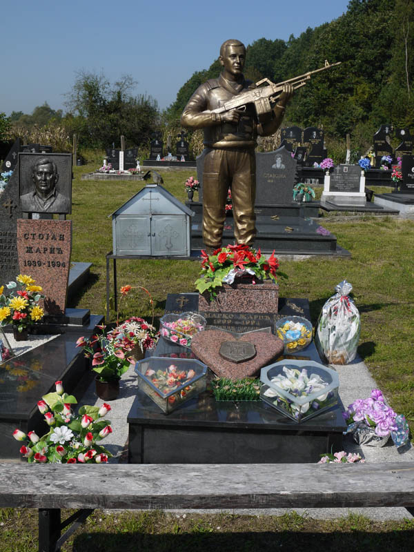 Serb war veteran\'s grave in Bosnia.
