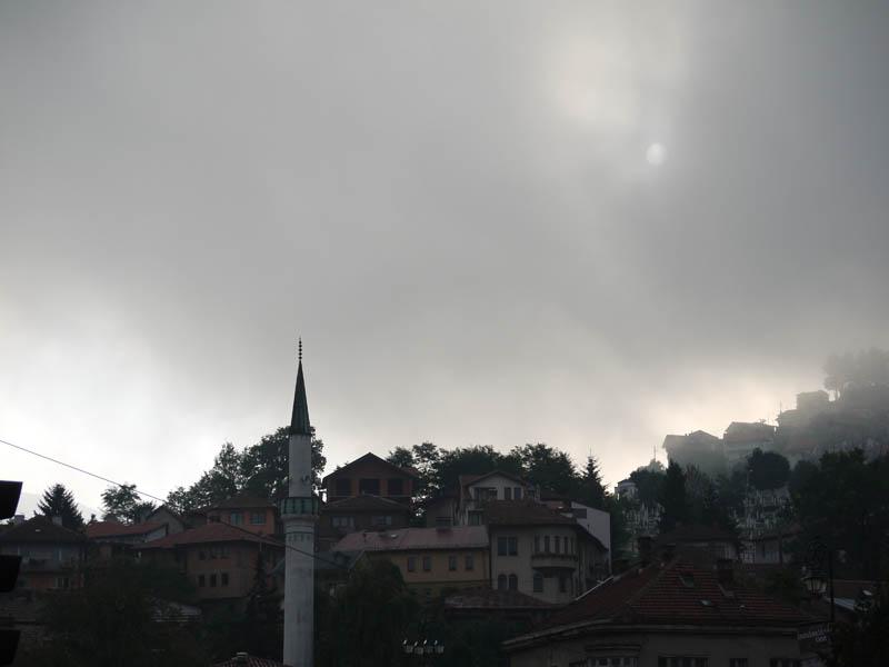 Mists lifting in Sarajevo.