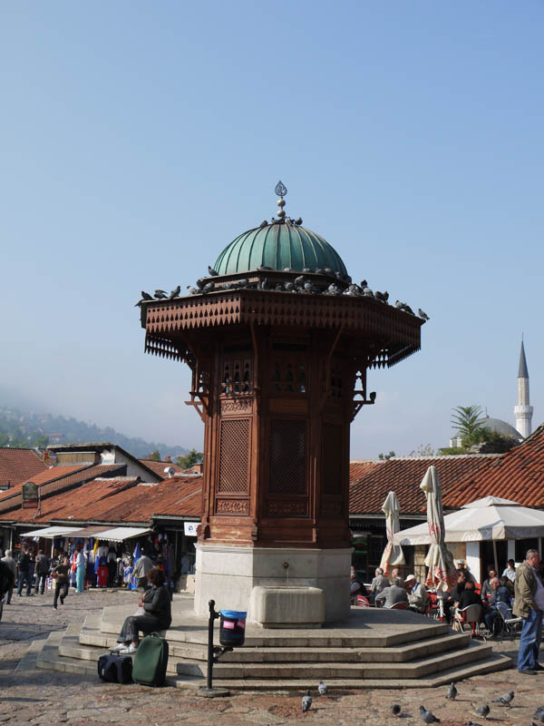 The Ottoman fountain in Sarajevo.