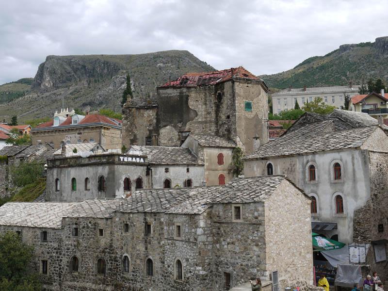 Mostar skyline.