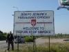 Crossing the border into Republika Srpska.