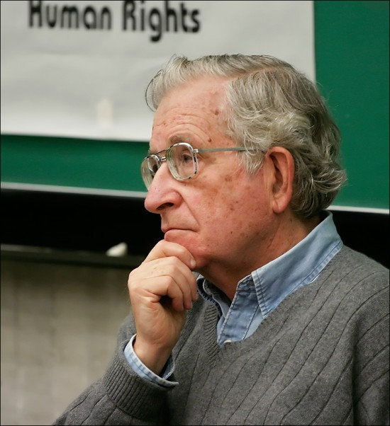 Noam Chomsky, brilliant whiner.